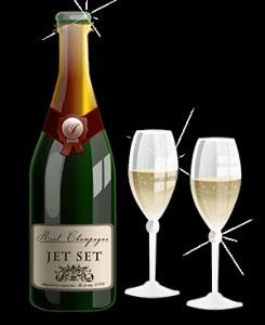 onlinecasino logga med champagne