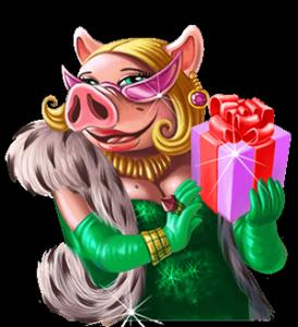 Piggy riches gris med paket