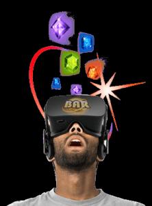 Person som spelar virtuell online casino