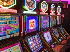 Slotmaskiner på ett casino