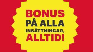 Spela gratis med bonus på alla insättningar som du gör till Mobilautomaten casino